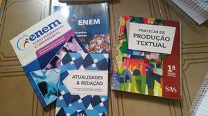 Kit livros de redação enem+ caderno de produção
