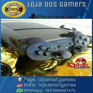 Ps3 ultra 250g + 2 jogos físico +1 controle