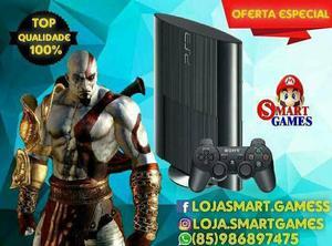 Ps3 ultra 250gb + 10 jogos digitais (gta5/cal of