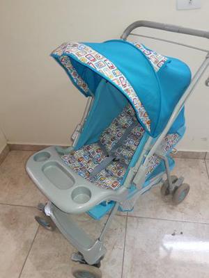 Carrinho de bebê galzerano azul
