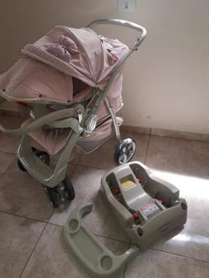 Carrinho de bebe com bebê conforto burigotto classe 1