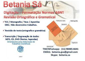 Digit, format normas abnt, rev ortogr/gramat