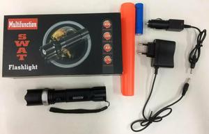 Lanterna de led recarregável 3 níveis com carregador