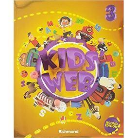 Livro ingles kids web 3 ano. usado e respondido com cd