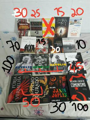 Livros diversos preço na foto