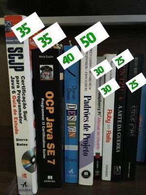 Livros de programação/desenvolvimento (preços na imagem)