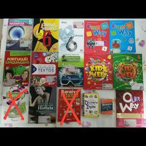 Livros diversos 6° ano e de inglês 2° ao 6° anos