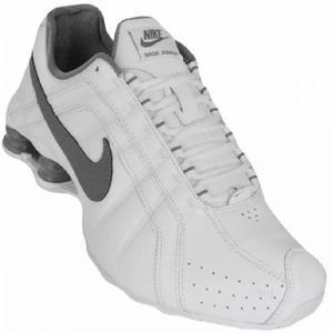 Nike shox junior nº38 branco e cinza original