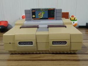 Nintendo com 2 controles e mario