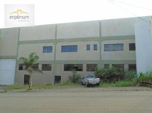Salão industrial para locação, distrito industrial abdo