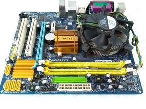 Kit placa mae gigabyte 775 ddr2 dual core
