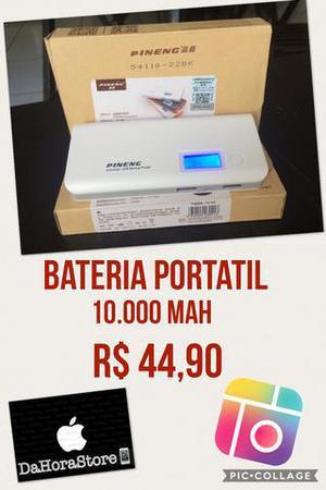 Bateria carregador portátil 10000 mah até 3 cargas