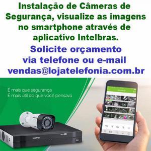 Instalação de câmeras de segurança digital intelbras