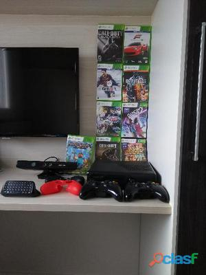 Xbox 360 bloqueado em ótimo estado 250g 14 jogos originais e acessórios
