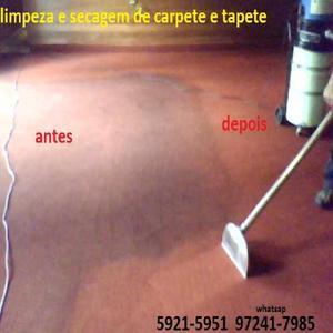 Secagem de carpete alagado com emergencia 24hs