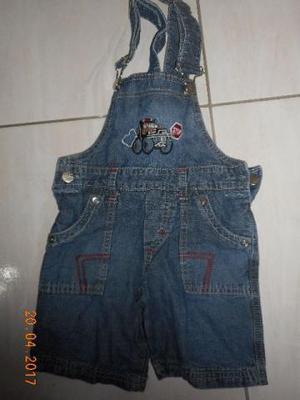 Jardineira jeans infantil menino