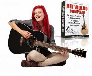Aprenda tocar violão em casa - kit violão completo