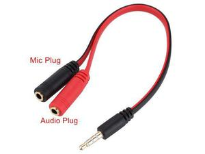 Cabo adaptador de fone de ouvido e micrfone de 3.5mm
