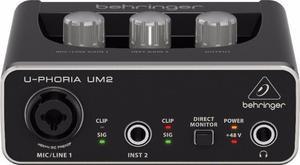 Interface áudio behringer u-phoria um2