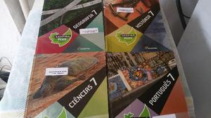 Kit 4 livros araribá plus do 7º ano português, geografia,