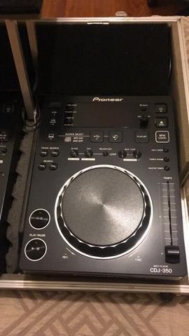 Kit cdj 350 pioneer + mixer 350 pioneer + case