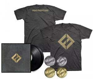Lp foo fighters - concrete and gold + tee + collectible coin