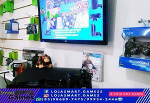 Ps3 slim 500g + de 10 jogos em mídia digital