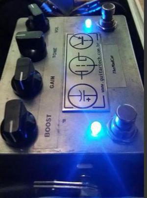 Pedal 2 em 1: mad cat drive + overdrive + distortion + fuzz