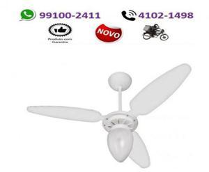 Ventilador de teto ventisol wind light branco 3 velocidades