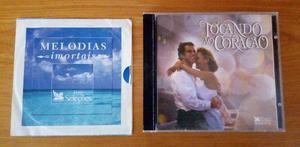 2 cds - tocando o coração + 1 cd melodias imortais - usado