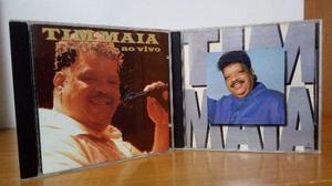 6 cds - tim maia, lô borges, bossa nova e mpb - usados em