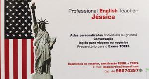 Aulas particulares de inglês online/ presenciais