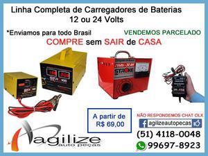 Carregadores de bateria 12v / 24v - linha completa