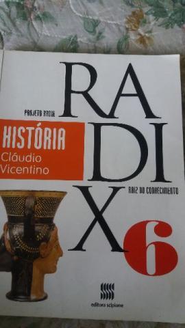 História projeto radix 6, 6º ano, raiz do conhecimento