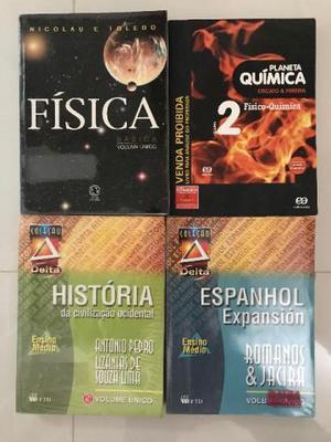 Livros para ensino médio e pré vestibular