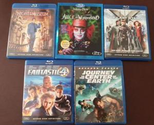 Lote c/ 5 filmes blu-ray, sem legendas/dublagem em