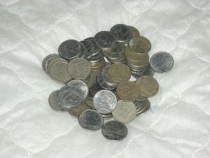 Lote moedas antigas brasileira 20 centavos e 10 cruzados