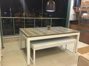 Mesa de sinuca e jantar modern. em metal!