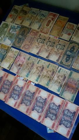 Notas antigas 100 reais