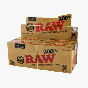 Seda raw classic kingsize (200 folhas)