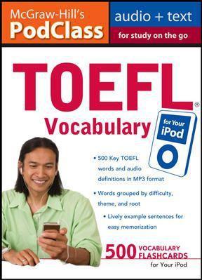 Toefl vocabulary (mp3 disk) audio podclass curso inglês