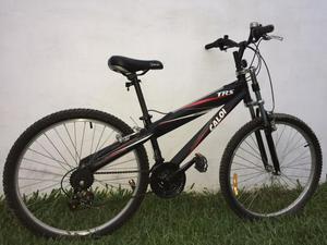 Bicicleta caloi trs aro 26 21 marchas mtb - preto