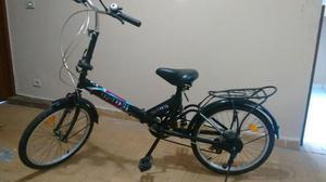 Bicicleta dobrável aro 20 - 6 marchas