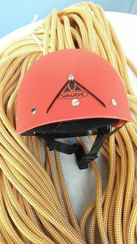 Corda estática rapel 12mm c 100 metros + capacete