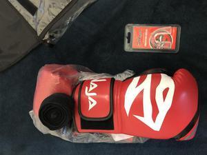Kit naja muay thai luva + bandagem + protetor bucal