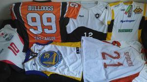 Lote camisas clubes basquete vôlei oficiais colecionadores