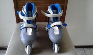 Patins kit roller com acessórios