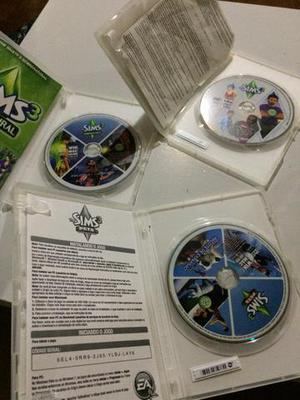 The sims 3 base, the sims 3 pets e the sims 3 sobrenatural