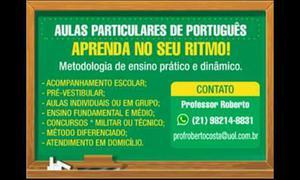 Aula particular de português e redação