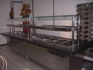 Balcão self service para comida quente e fria para